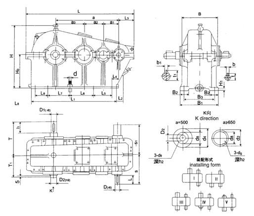 zs圆柱齿轮减速机图片